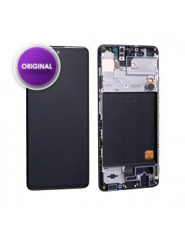 Ecrã LCD + Touch com Frame para Samsung Galaxy A51 (SM-A515F) - GH82-21669A Service Pack (Original)