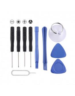 Kit de ferramentas para telemoveis - 10 peças (Inclui Y0,6)
