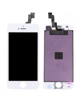 Ecra LCD + Touch para iPhone 5S / iPhone SE - Branco
